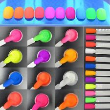 12 Colors/set Glitter Dust Pigment Nail Art Powder DIY Manicure Neon Phosphor