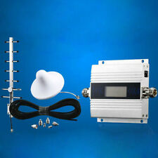 LCD GSM 900MHz Cell Phone Signal Repeater Booster Amplifier + Yagi Antenna Kit