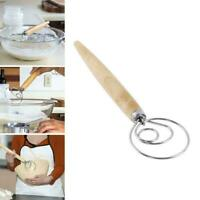 Baking Danish Dough Stainless Steel Wire Whisk Mixer Artisan Tool Mixing M5E4
