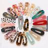Women Leopard Acrylic Hair Clips Snap Barrette Stick Hairpin Hair Accessories