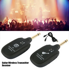 2.4G Wireless Guitar Bass System Transmitter & Receiver 30M Range Rechargeable