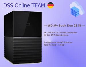 WD My Book Duo 28 TB (2x 14TB) Externe Festplatte (WDBFBE0280JBK-EESN) - NEU !