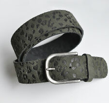 Neu schwarz Echt Leder Gürtelrohling Gürtel ohne Schnalle Lederriemen 104cm lang