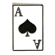 Embroidered Ace Of Spades Playing Card Sew or Iron on Patch Biker Patch