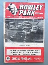 1967 ROWLEY PARK SPEEDWAY OFFICIAL PROGRAM MEETING NUMBER 3 1967/1968