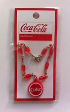 NEW COCA COLA Collector's Red Charm Coke Bracelet X-MAS STOCKING STUFFER Jewelry
