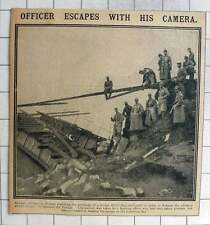 1915 Russian Officer Escapes With His Camera, Destroyed Vistula Bridge