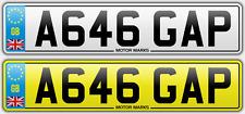 PRIVATE NUMBER PLATE -A646 GAP - GAP GA GP DENTIST BURNLEY HEBDEN BRIDGE HALIFAX