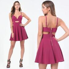 BEBE HALTER FLARED CUTOUT DRESS NWT NEW $139 MEDIUM M LARGE L 10
