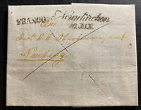 1842 Austria Stampless Letter Cover To Neuberg