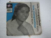 LATA MANGESHKAR  HINDI DEVOTIONAL rare EP RECORD 45 vinyl INDIA 1965 EX