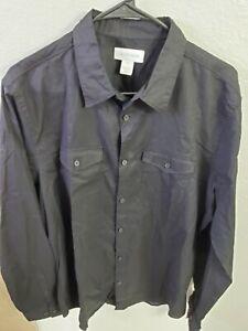 Calvin Klein Men's Long Sleeve Lightweight Cotton Linen Button Down Shirt NWT