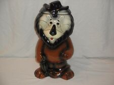 2004 Lefton Hand Painted Ltd Edition Harris Bank Cookie Jar Hubert The Lion 15""