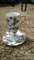 E-563 by Inarco (Japan) - Rare Beautiful Footed Demitasse Cup & Saucer