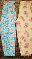 LIKLY PULITZER 2PC Vintage Capris Girls Size 14 Blue Starfish Yellow Pink Floral