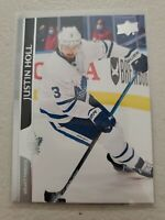 Justin Holl 2020-21 Upper Deck Series 2 French Variation SP #418 Maple Leafs