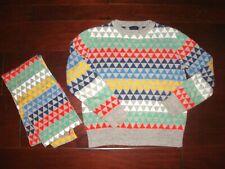 Gap Kids Boys M (8-9) Sweater & Scarf Set Holiday Winter Vacation