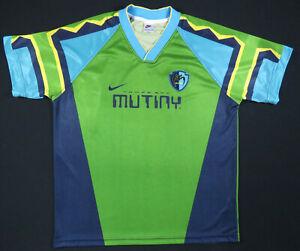 Vintage 90s Tampa Bay Mutiny Nike MLS Soccer Inaugural Mens Jersey Shirt XL