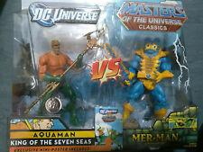 Masters of the Universe Aquaman Aqua Man Versus Mer-Man Merman DC Direct New MOC