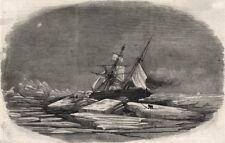 SIR JOHN FRANKLIN ricerca. la Isabel bloccato in ghiaccio di TALBOT d'ingresso. Artico, 1852