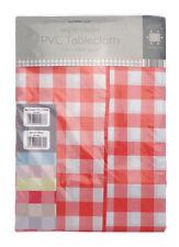 "Check/Gingham Rectangular pvc/wipeable tablecloth 52"" x 70"" (132cms x 178cms)"