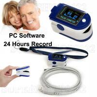 Finger Pulse Oximeter,Blood Oxygen,Spo2 Monitor 24Hour Rec+USB+Software,CMS50DA+