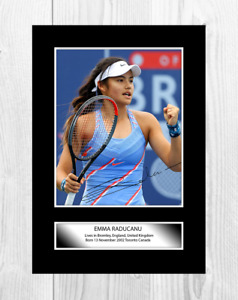 Emma Raducanu 1 A4 tennis reproduction autograph poster with choice of frame