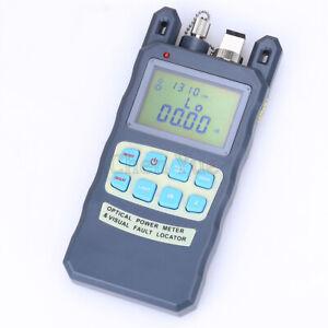 10mw Visual Fault Locator -70~+10dBm Fiber Optic Power Meter Cable Tester Tool