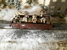 HO Roco Minitanks Artitec 9th Panzer Infantry Railway Car #A930 Hand Painted