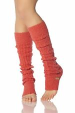 Ladies 1 Pair ToeSox Dance and Yoga Legwarmers One Size Coral