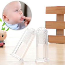 Baby Infant Finger Tooth/Gum Brush Silicone Toothbrush & Massager 2pcs