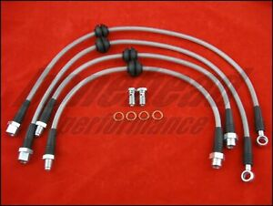 Techna-Fit Stainless Steel Braided Brake Lines 2003-2006 Mini Cooper R50 & R53