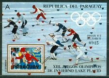 Paraguay Olympische Spiele Olympic Games 1980 MUESTRA Lake Placid block