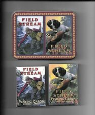 Field And Stream Sealed Decks Of Playing Cards W/Tin