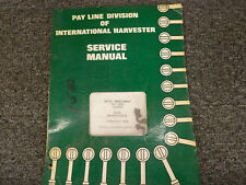 International Harvester 3400A 3500A Tractor Loader Backhoe Service Repair Manual