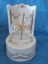 1993 Princeton Gallery Fine Porcelain Carousel Horse Music Box