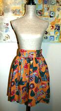 $118 Anthropologie🌼 Nathalie Lete Paris a Dress Skirt Hamatreya Bird Print SZ:2