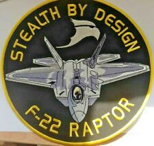 F-22 Raptor Stealth By Design GIANT Embroidered Back Patch