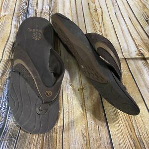Ocean Minded Mens Size 9 Brown Slip Flip Flops