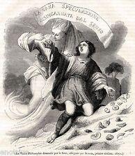 La Vana Speculazione disingannata dal Senso. Allegoria di Agostino Scilla. 1844.