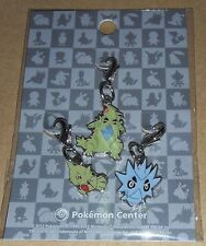 Japanese Pokemon Center Limited Metal Charm Larvitar Pupitar Tyranitar Set