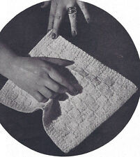 Vintage Knitting PATTERN to make Face Cloth Dish Cloth Baby Knitted Washcloth