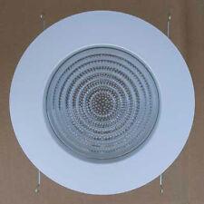 """New Elite B706 6"""" Fluorescent Shower Trim Metal/Plastic Fresnel Lens White"""
