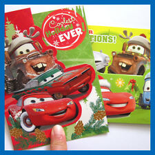 Disney pixar cars Christmas Card Set of 6 with envelope