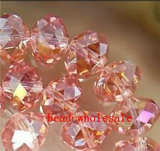 Lots 50/80pcs Rondelle Crystal Glass Loose Spacer Beads Jewelry Making Findings