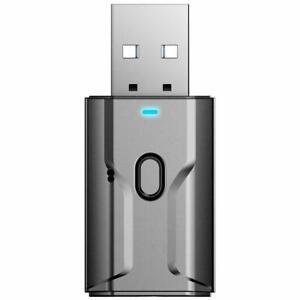 USB Bluetooth 5.0 Sender Empfänger Stereo Audio Adapter 3.5mm Fernseher AUX Q4U3