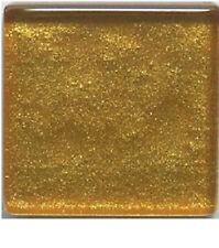 Bright Gold Metallic Glass Mosaic Tiles - 3/4 inch - 20 count - Art Tiles