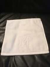 "MATOUK AUBERGE Monogrammed capital letter ""M"" White Wash/Face cloth -New"