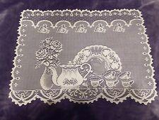 New Ivory lace Tea Pot design Doily/Placemat 19 x 14
