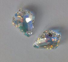2 Swarovski Crystal Teardrop Beads. 17 mm. Fabrication de Bijoux/Mariage Artisanat